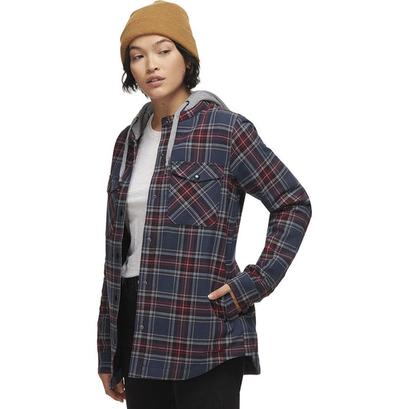 VOLCOM WOMEN'S HOODED FLANNEL JACKET