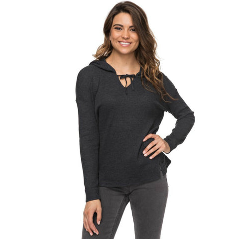 ROXY WANTED AND WILD HOODED LONG SLEEVE