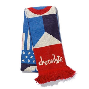 CHOCOLATE FLAG SCARF