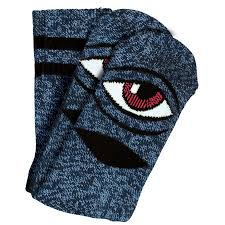 TOY MACHINE HEATHER SECT EYE SOCK BLUE HEATHER