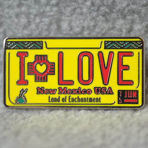 METAL NM LICENCE PLATE PIN