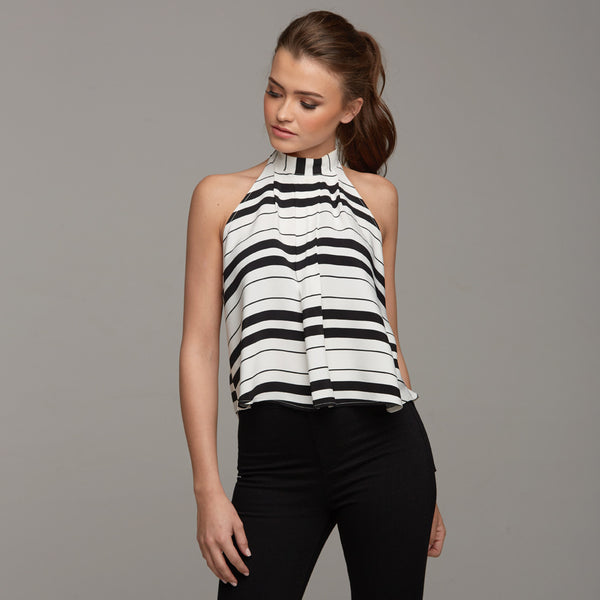 MYLA HALTER STRIPE - CT025