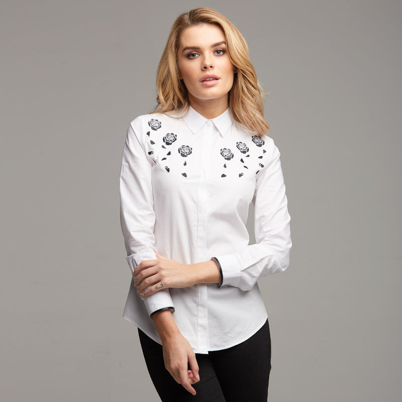 BLAKE ROSE EMBROIDERY SHIRT - CT042