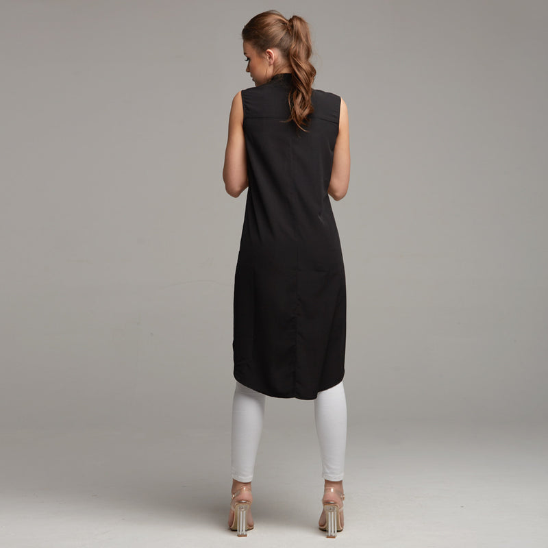 AMELIE SLEEVELESS LONGLINE TUNIC - CT021
