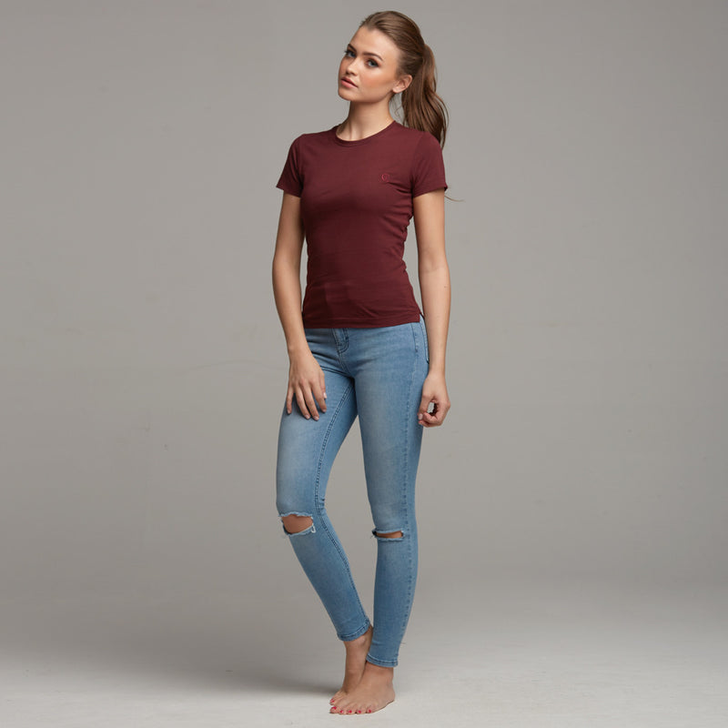 TEGAN BURGUNDY TEE - CT049