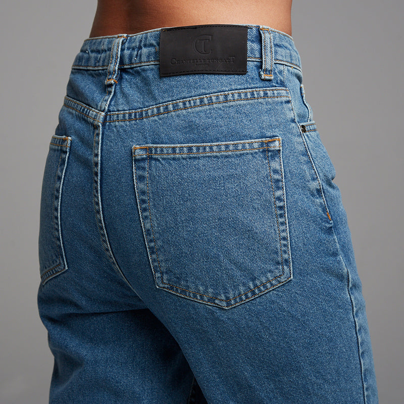 DRAKE BLUE REGULAR FIT JEANS - CT075