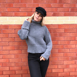 KENDALL KNITTED ROLL NECK JUMPER - CTJ002