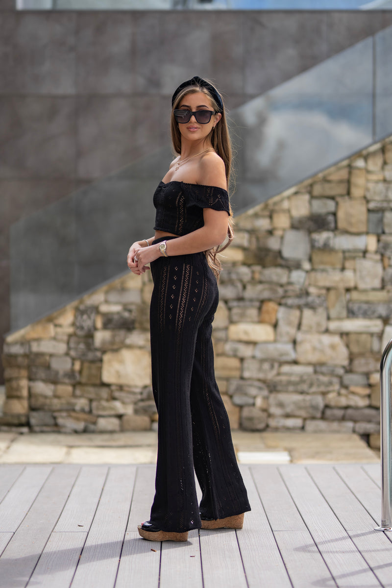 'AYLA' Knitted Co ord Trouser Black - CTJ008