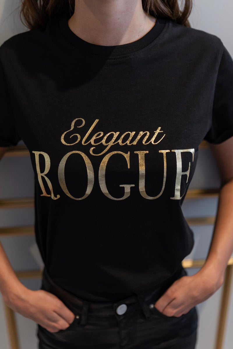 'ELEGANT ROGUE' - CT084 SLOGAN T SHIRT