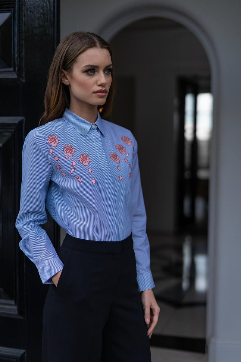 BELLA ROSE EMBROIDERY SHIRT - CT041