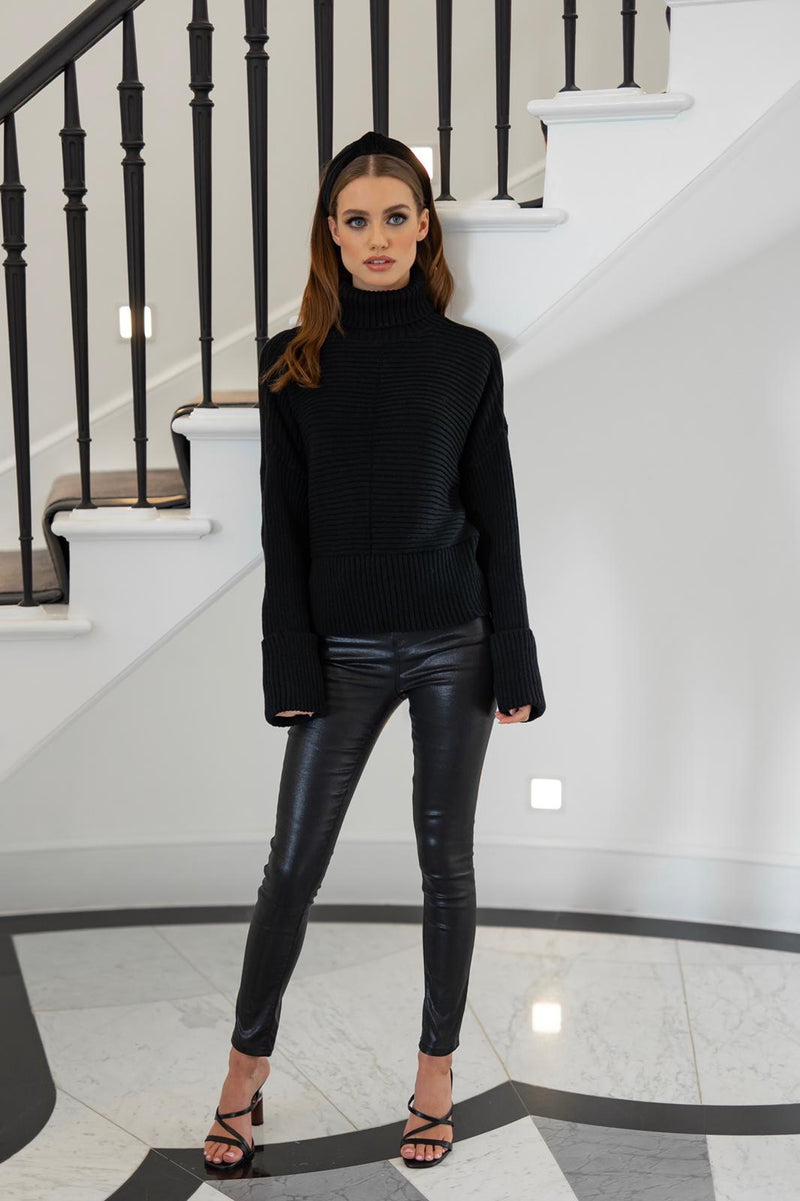 KENDALL KNITTED ROLL NECK JUMPER - CTJ003