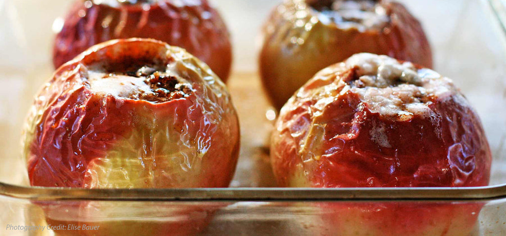 Baked Apples with Dried Fruits and Walnuts