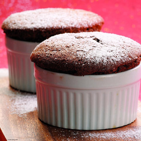 Antioxidant rich chocolate souffle