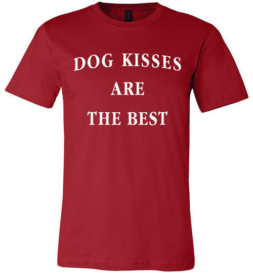 Unisex Canvas T-shirt - Dog kisses are the best