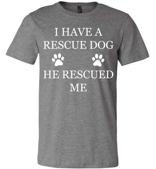 Rescue Dog - Canvas Unisex Tee
