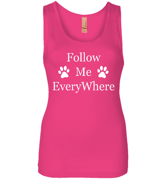 Follow Me EveryWhere - Ladies Next Level Spandex Jersey Tank