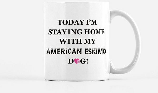 American Eskimo Mug, Eskie Mug, Dog Lover, Gift For Dog Lover, Gift For American Eskimo Lover,