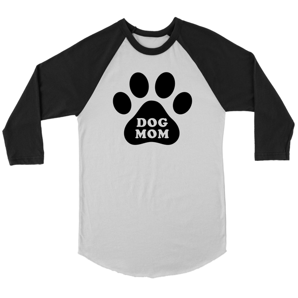 Dog Mom - Canvas Unisex 3/4 Raglan