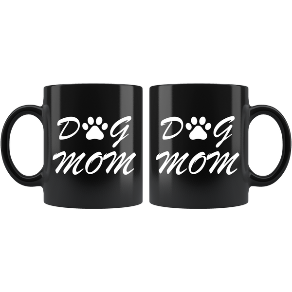 Dog Mom Mug - Black