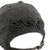 Black suede HIGHEND snapback hat