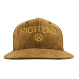 Tan suede HIGHEND snapback hat.