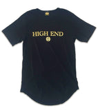 Black & gold High End longated t-shirt