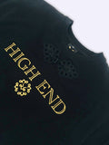 Black crewneck HIGH END sweatshirt.
