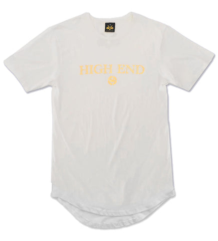 White & gold High End longated t-shirt