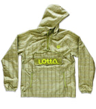 Light Olive Green 100% Silk & Genuine Suede Leather Hoodie Windbreaker Pullover Jacket