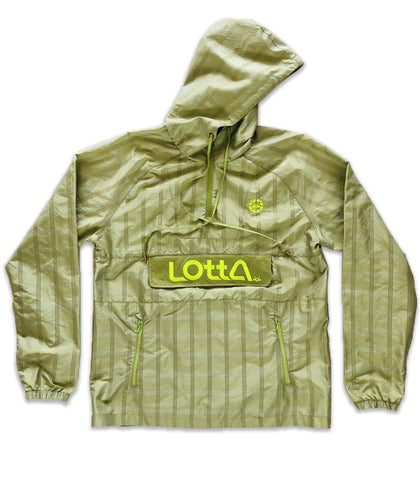 Light olive green Silk & Suede hooded windbreaker pullover