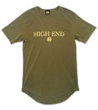 Military green & gold High End longated t-shirt