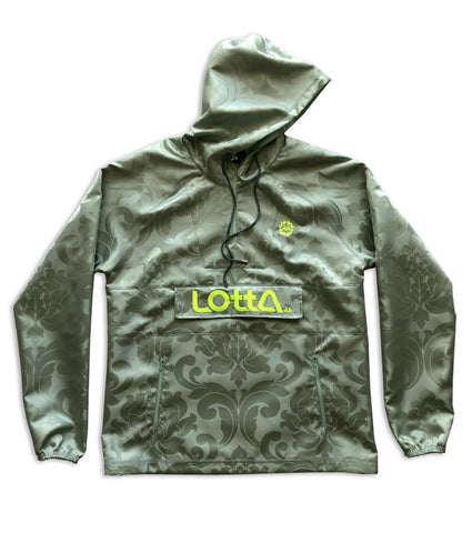 Spa green damask royal fabric windbreaker