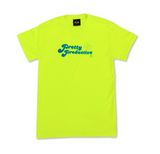 Neon Yellow Pretty & Productive short sleeve t-shirt