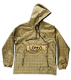 Brown tan 100% Silk & Genuine Suede Leather Hoodie Windbreaker Pullover Jacket