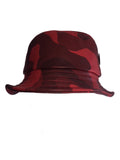 Red Leather Bucket & Chain Bucket Hat