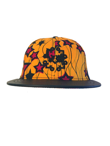 Red Starred & Golden Snapback Hat