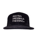 BLACK VELVET & WHITE RESTING, DRESSING & FINESSING SNAP BACK HAT