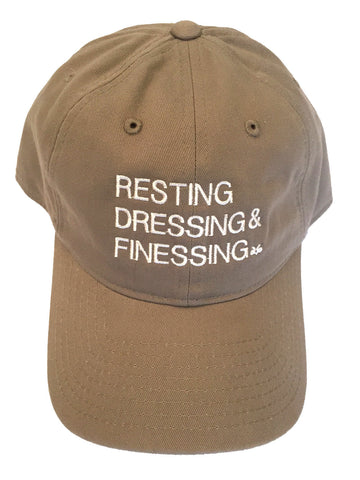TAN & CREAM RESTING, DRESSING & FINESSING DAD HAT