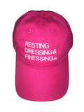 HOT PINK & WHITE RESTING, DRESSING & FINESSING DAD HAT