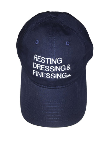 NAVY BLUE & WHITE RESTING, DRESSING & FINESSING DAD HAT