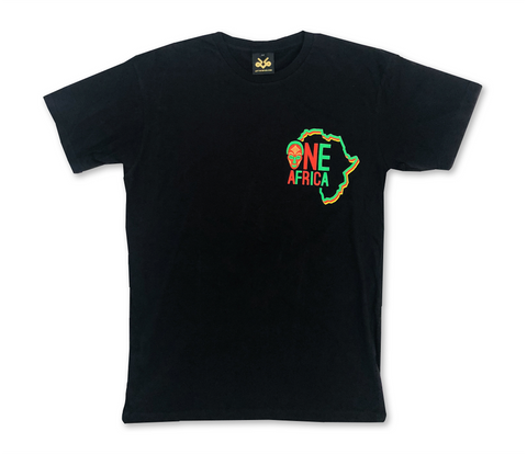 Black Official One Africa Music Fest T-shirt