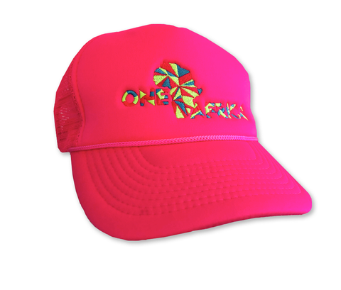 Neon Pink One Africa Music Fest Trucker Hat