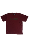 BURGUNDY REFLECTIVE LOGO T-SHIRT