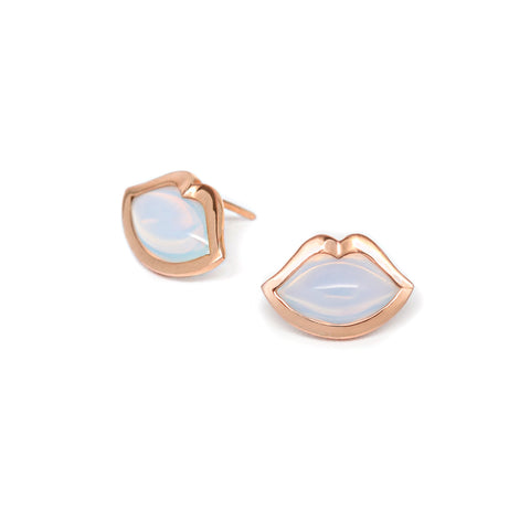 'French Kiss' Studs in Opalite