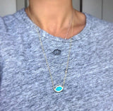 "23"" 'French Kiss' Lip Necklace in Turquoise"