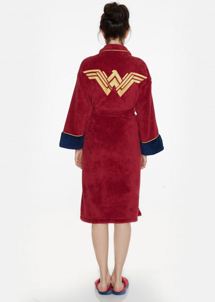 Batman Vs Superman Wonder Woman Logo Bathrobe Back Full