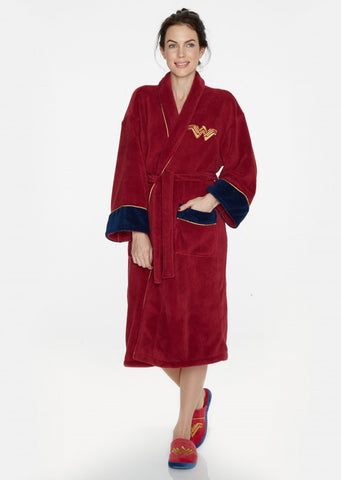 Batman Vs Superman Wonder Woman Logo Bathrobe