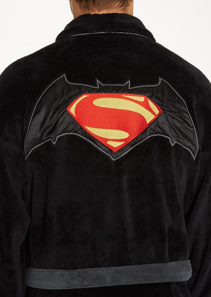 Batman Vs Superman Bathrobe Back Logo