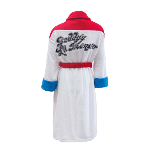 DC Comics Suicide Squad Harley Quinn Daddy's Little Monster Bathrobe Back