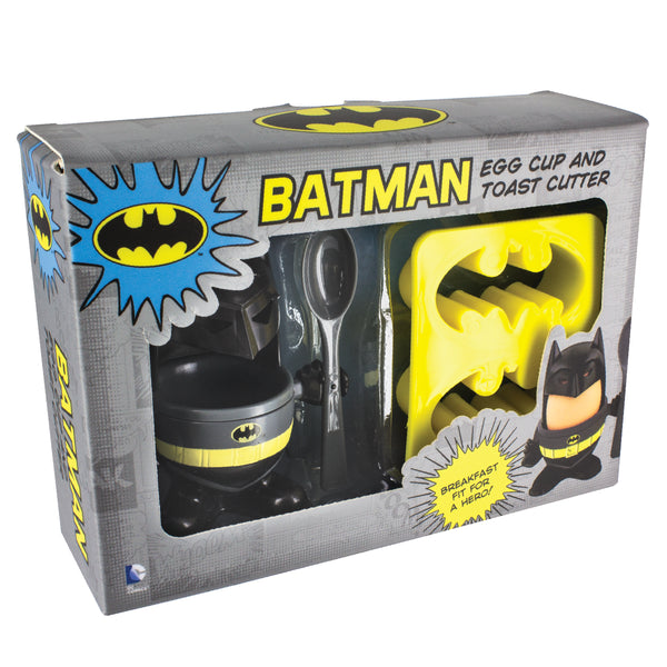 DC Comics Batman Egg Cup gift set in box